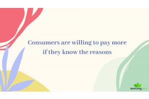 Consumers are willing to pay more if they know the reasons
