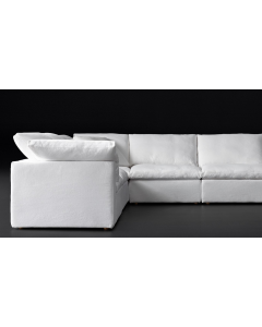 Modern Living Room Furniture Set, Special Classic White Sectional Cloud Sofa