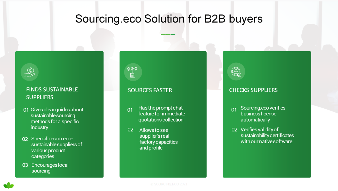 Solution for sustainable importers - Sourcing Eco