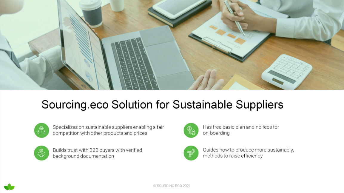 Solution for sustainable suppliers - Sourcing Eco